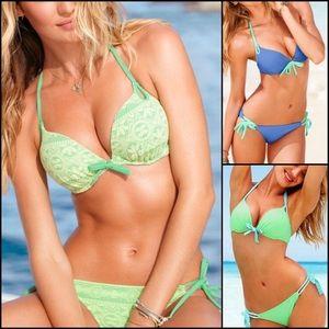 Victoria's Secret Lace Bombshell Bikini Set 34D M